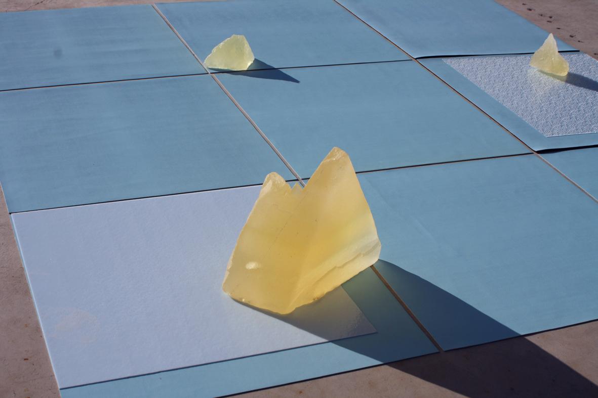 Tests (Residency site, Joshua Tree Desert, California) 2013 (Resin, fabric, ensolite, polystyrene, acrylic)