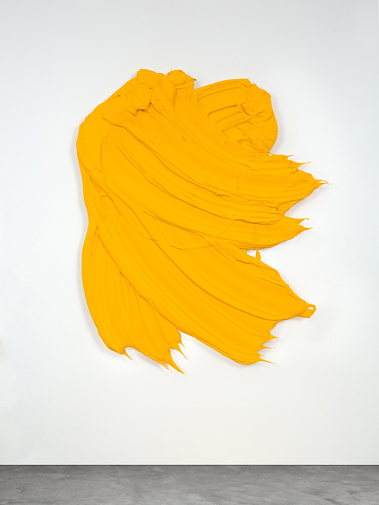 Lule II, 2014, 47 x 55 inches (119 x 140 cm), polymer and pigment mounted on aluminum