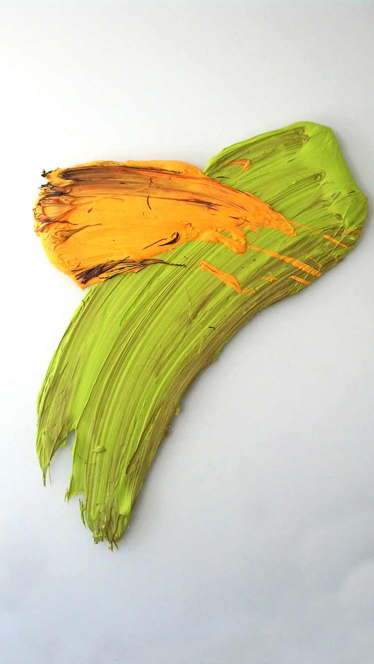 Wasu, 2014, 55 x 45 inches (109 x 114 cm), polymer and pigment mounted on aluminum