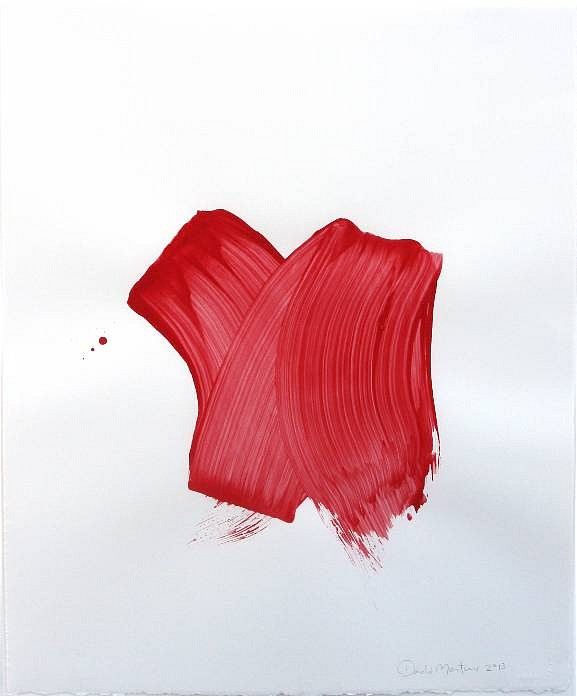 Roumfort, 2013 polymers and pigment on paper, 26 x 20 in. (66 x 50.8 cm)