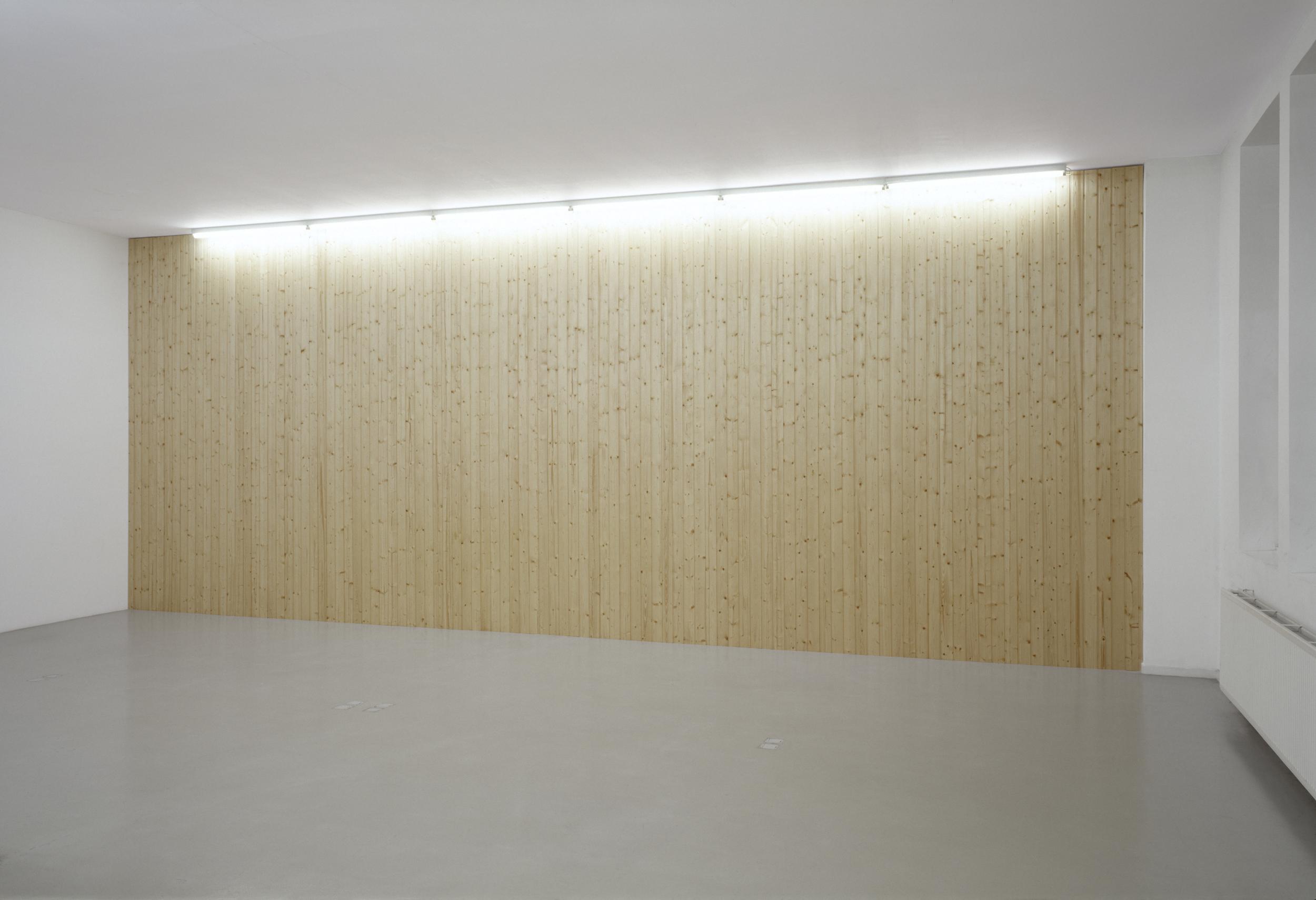Untitled, 2002, wooden panels, 350 x 870 cm