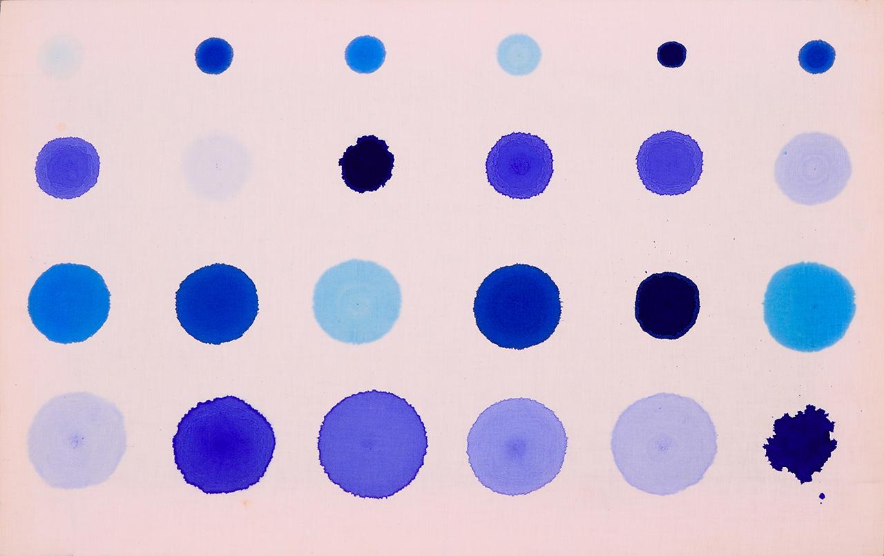 Iniezioni, 1980, acrylic on raw canvas, O.mmc 1,4,6,8 rip.,50 x 80 cm