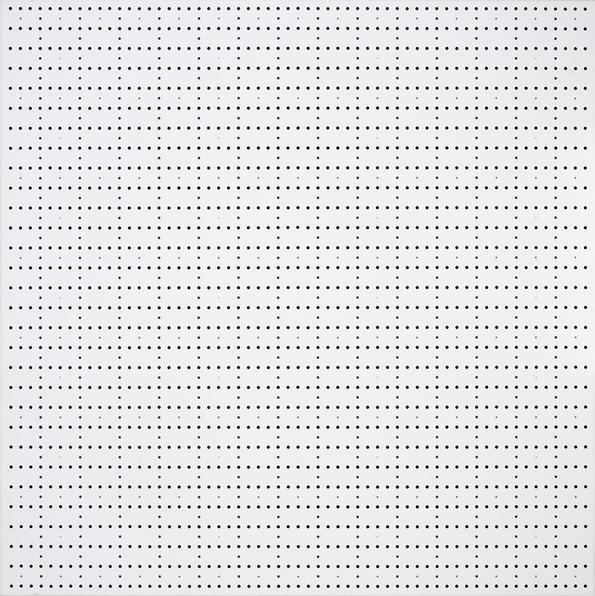 Prevalenze, 1974, minimo (nero) grigio,acrylic on canvas, 120 x 120 cm