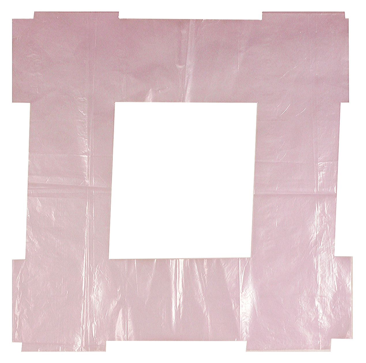 Untitled, 1998, shaped and folded rose-violet polyethylene film, 57 x 57 cm