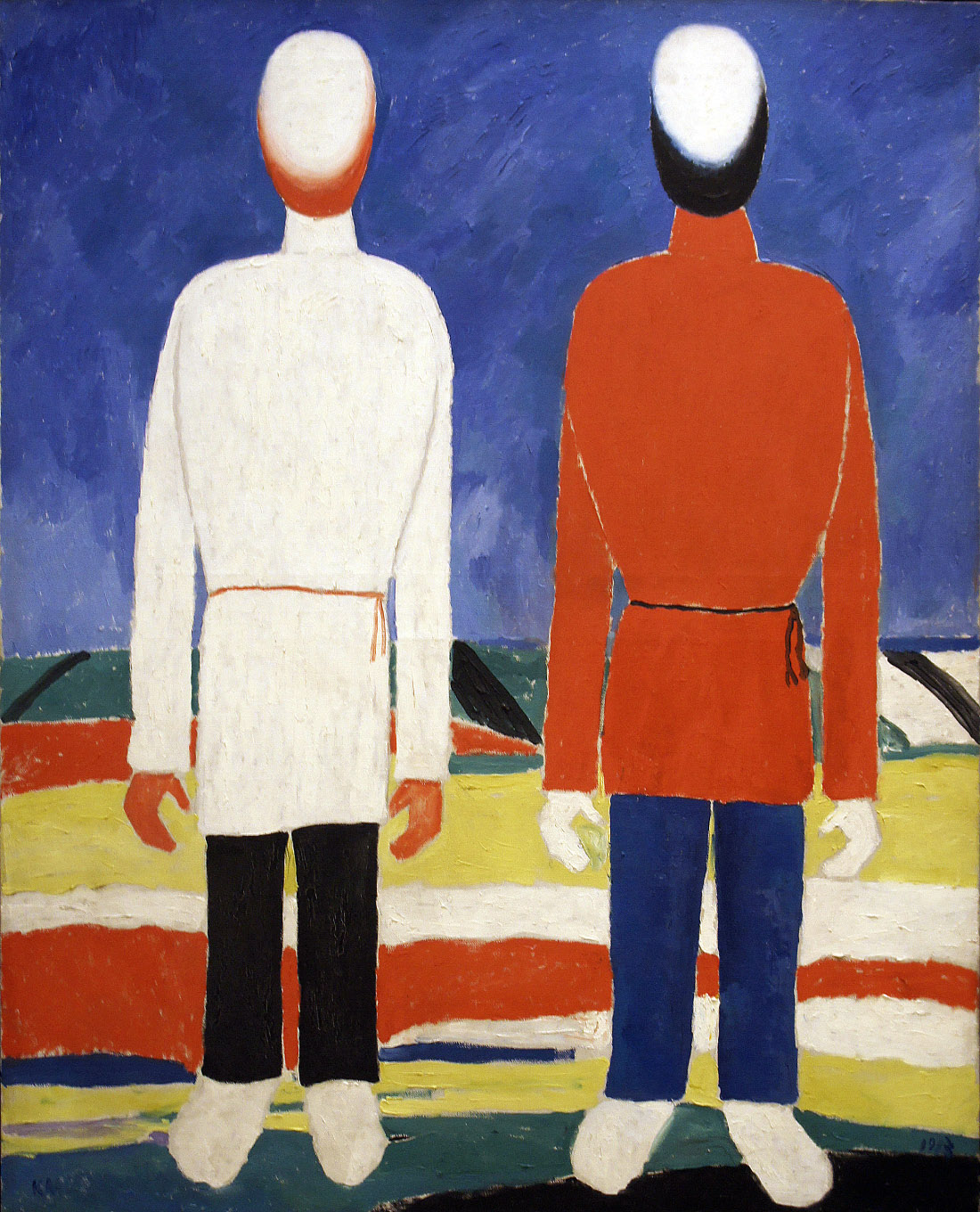 Two Male Figures, early 1930s, oil on canvas