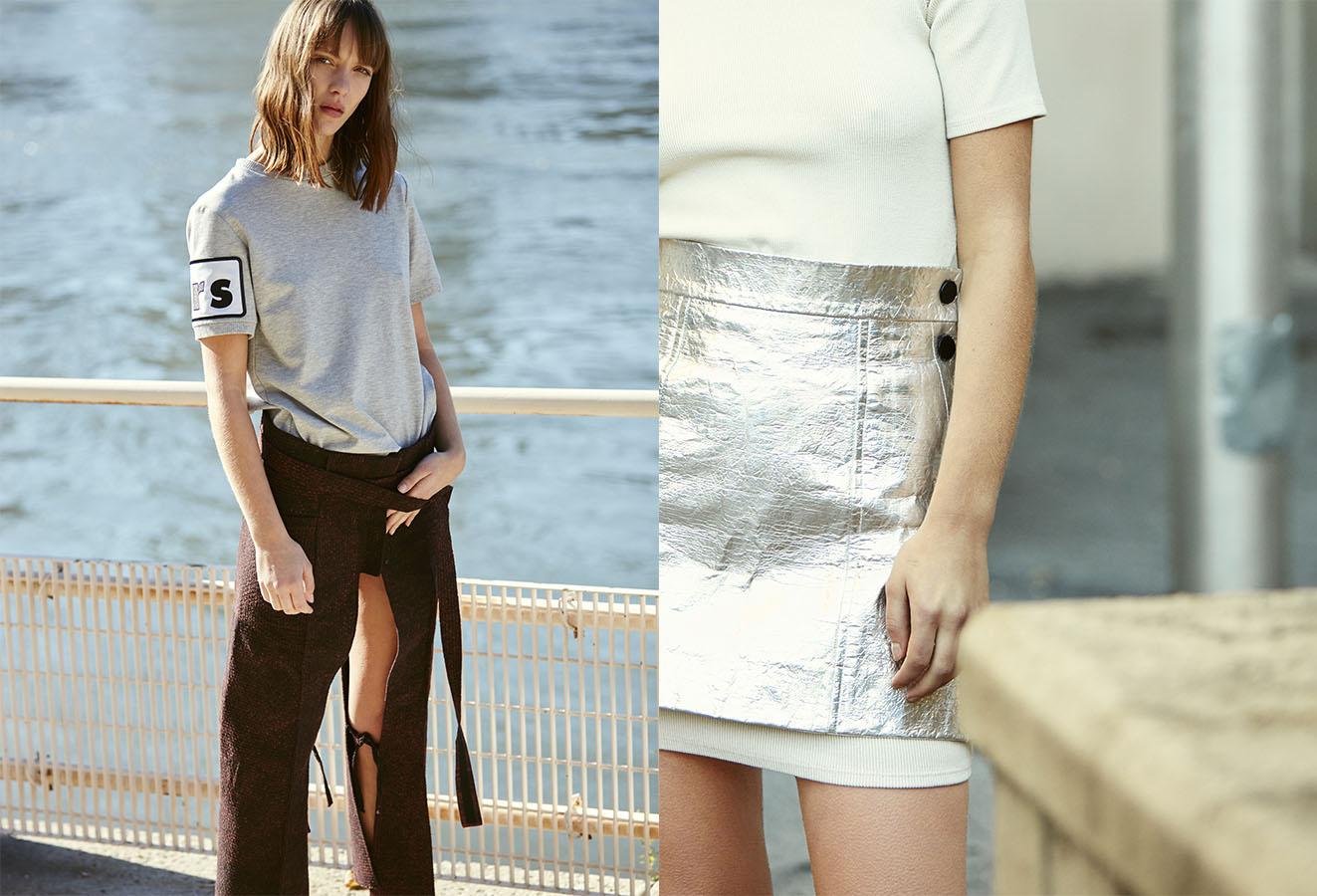 t-shirt   LRS   pants  AREA . t-shirt and dress   SIMON MILLER   skirt   LRS