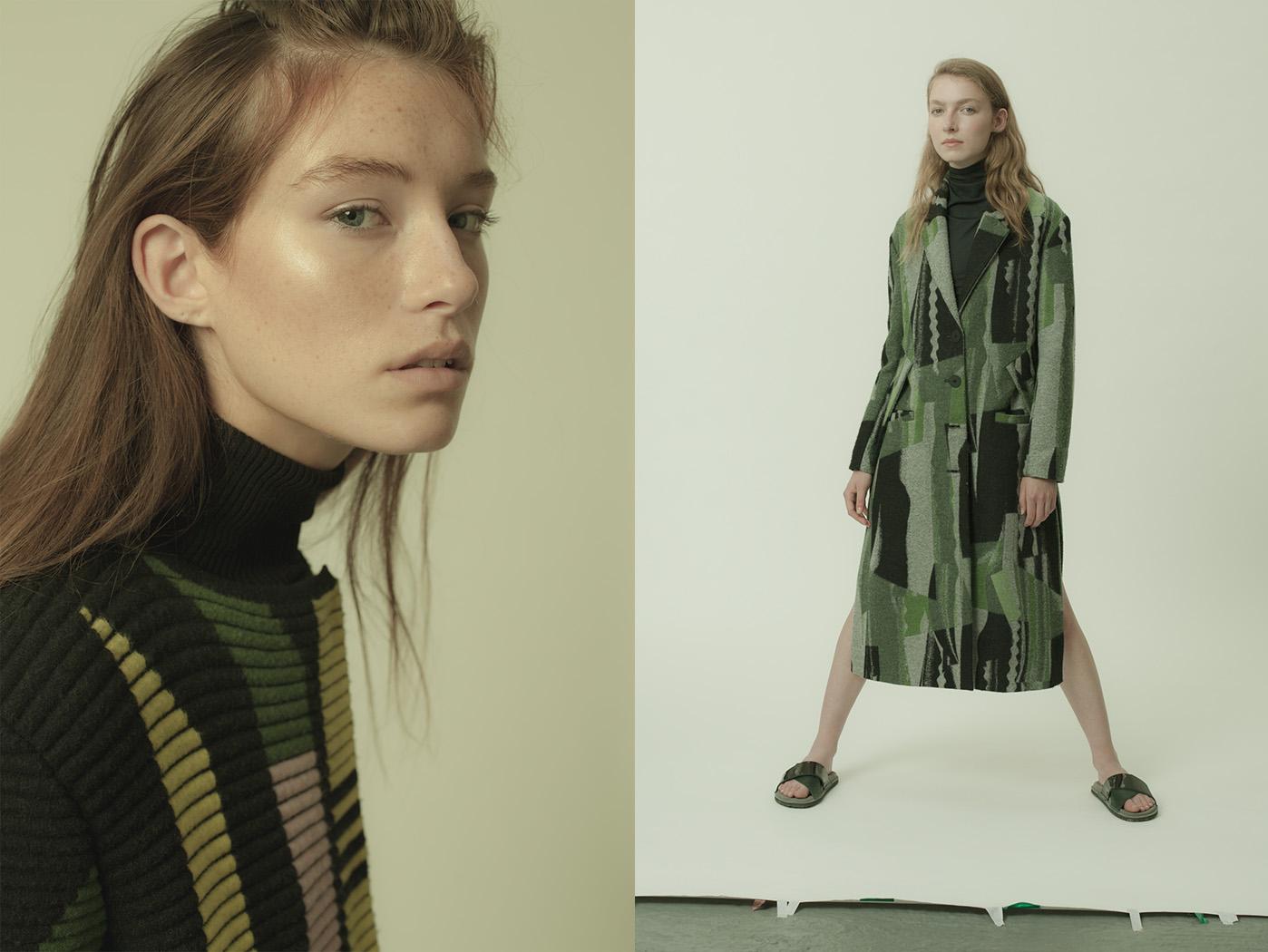 Lily wears coat   PETER PILOTTO   turtleneck dress   KENZO  . Esme wears coat   KENZO   turtlneck   ANN-SOFIE BACK   leather sandals   MEHLE