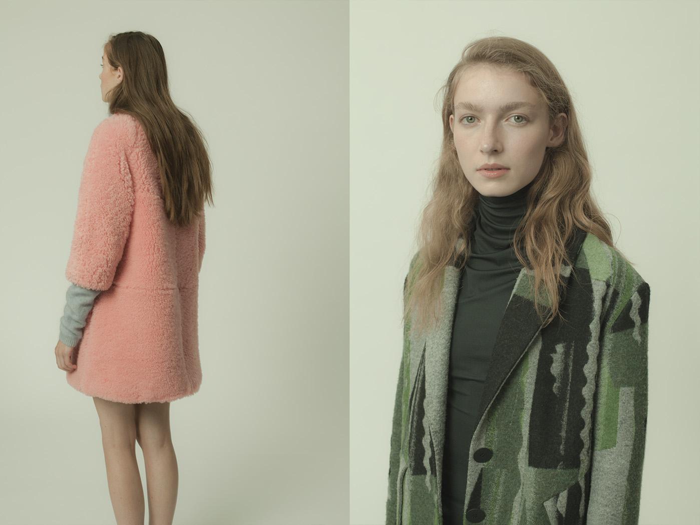 Lily wears coat   ASHLEY WILLIAMS   turtleneck jumper   SECOND FEMALE  . Esme wears coat   KENZO   turtlneck   ANN-SOFIE BACK