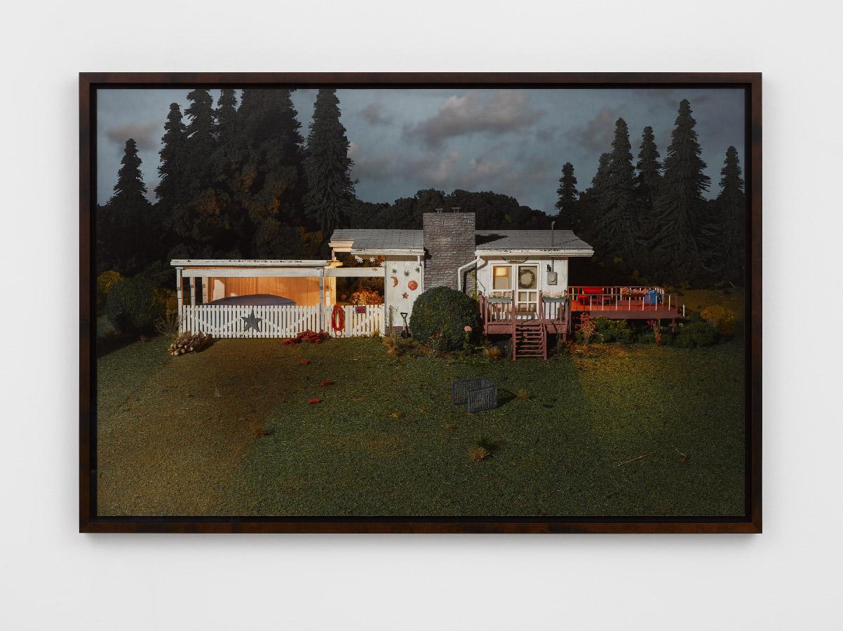 Dusk on Exeter Road,2013, fine art pigment print,Print: 76.2 x 115.6 cm, Framed: 81.9 x 121.3 cm