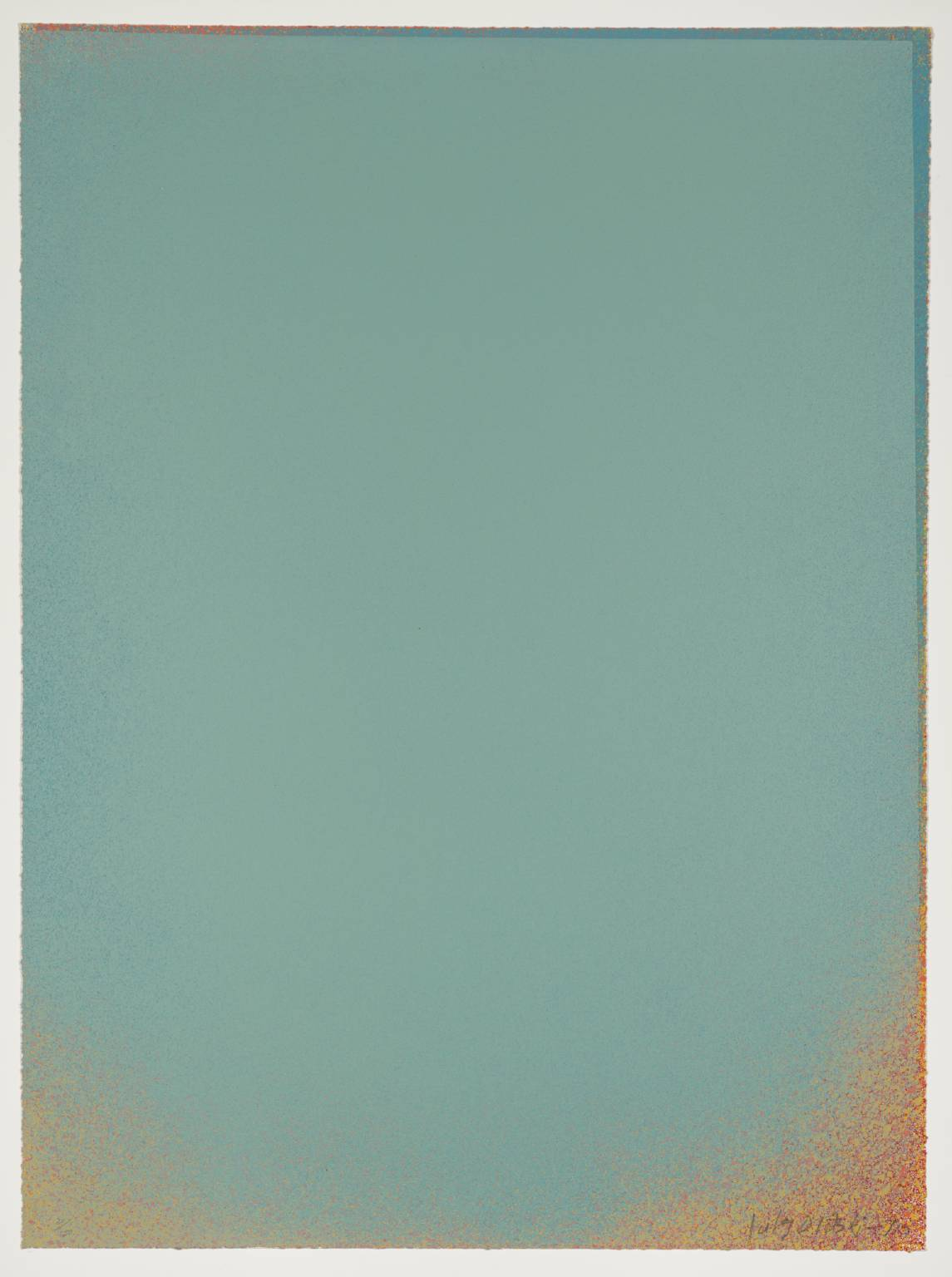 Pale Blue with Blue and Red, 1970, 88.9 x 66.04 cm
