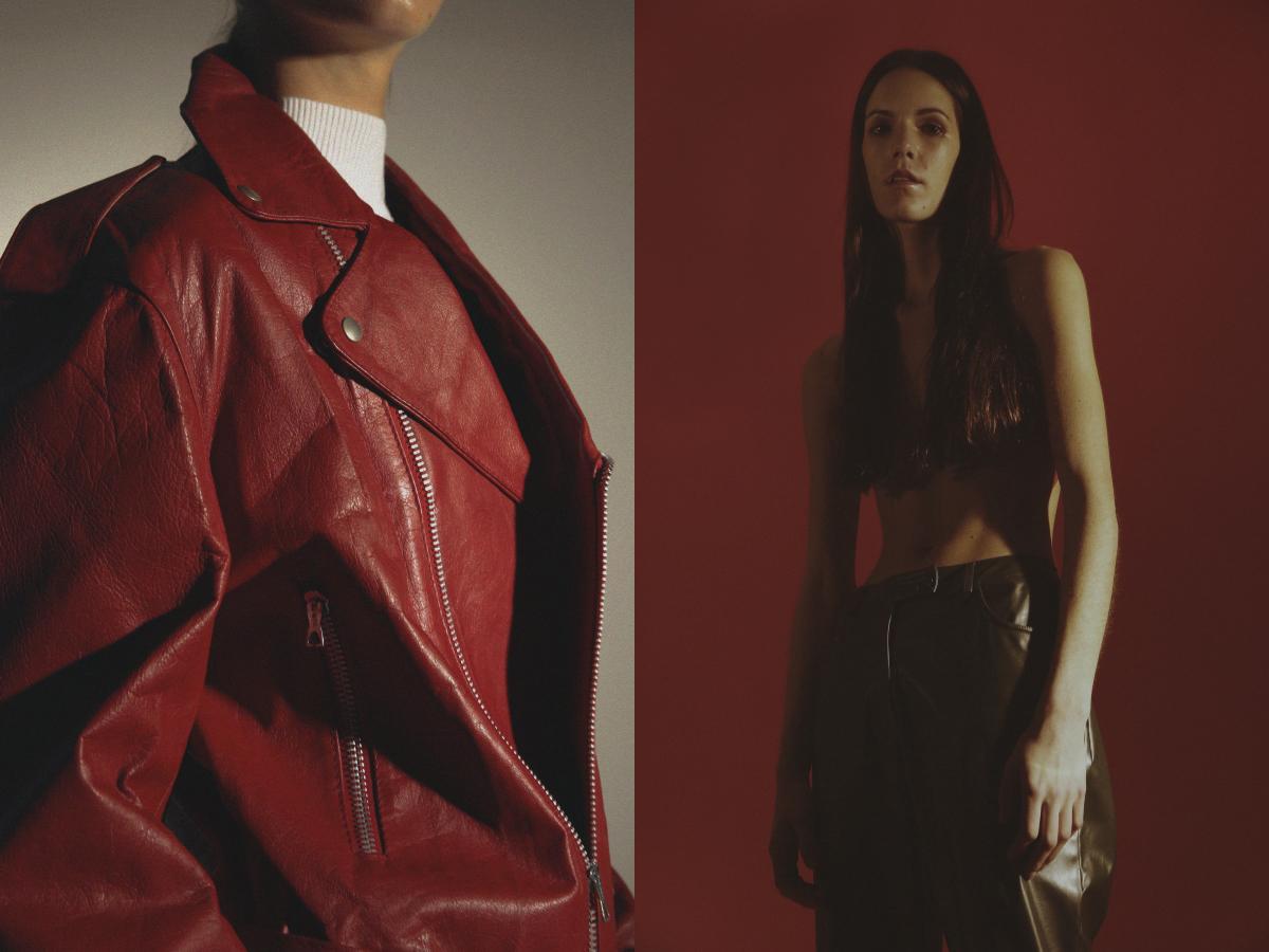 turtleneck  STYLIST'S ARCHIVE  vintage perfecto   SERENDEEPITY  . leather pants  STYLIST'S ARCHIVE