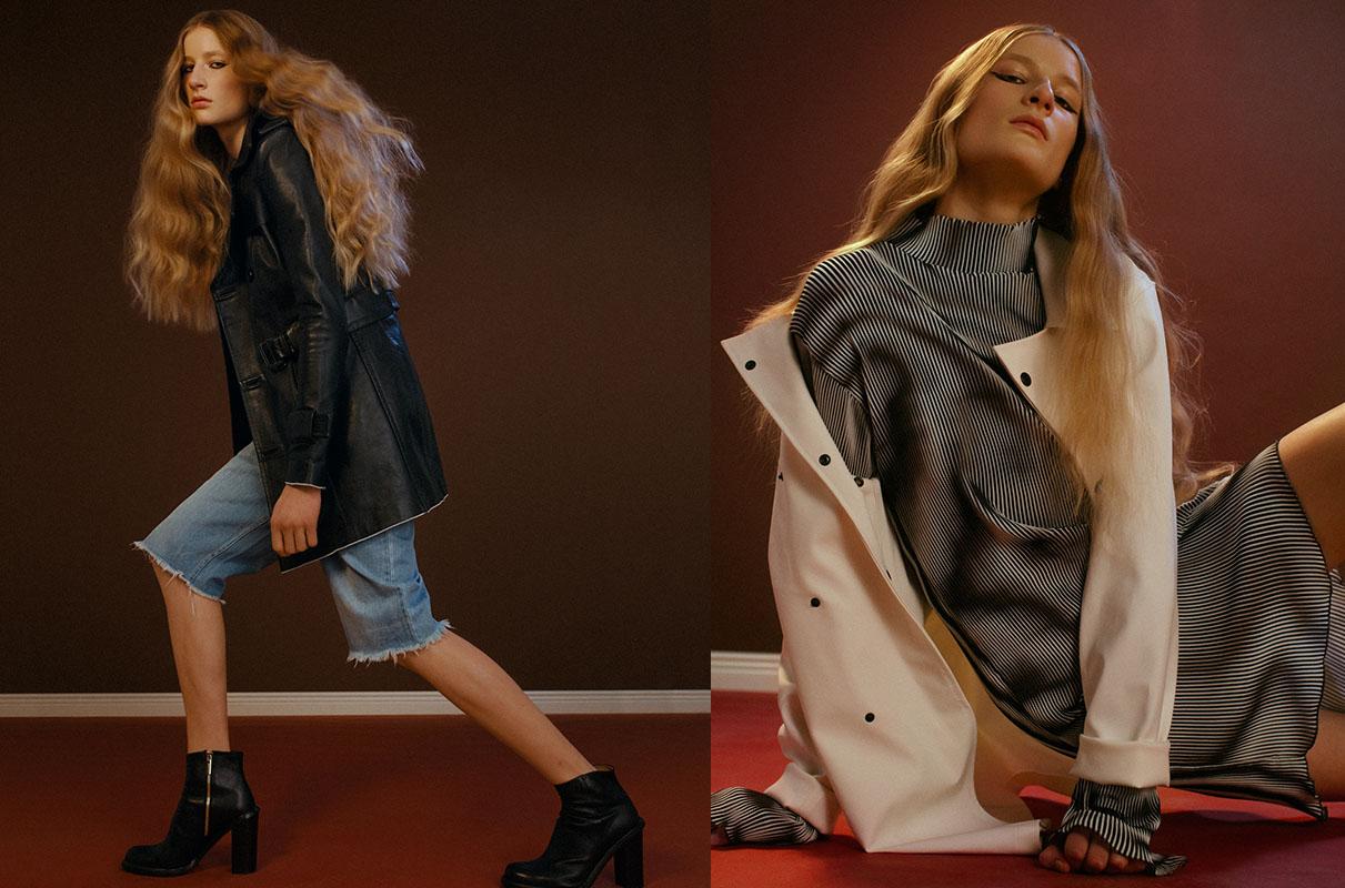 coat and shorts   HAAL   shoes   AMEND ATELIER  . coat   STUTTERHEIM   dress   HAAL