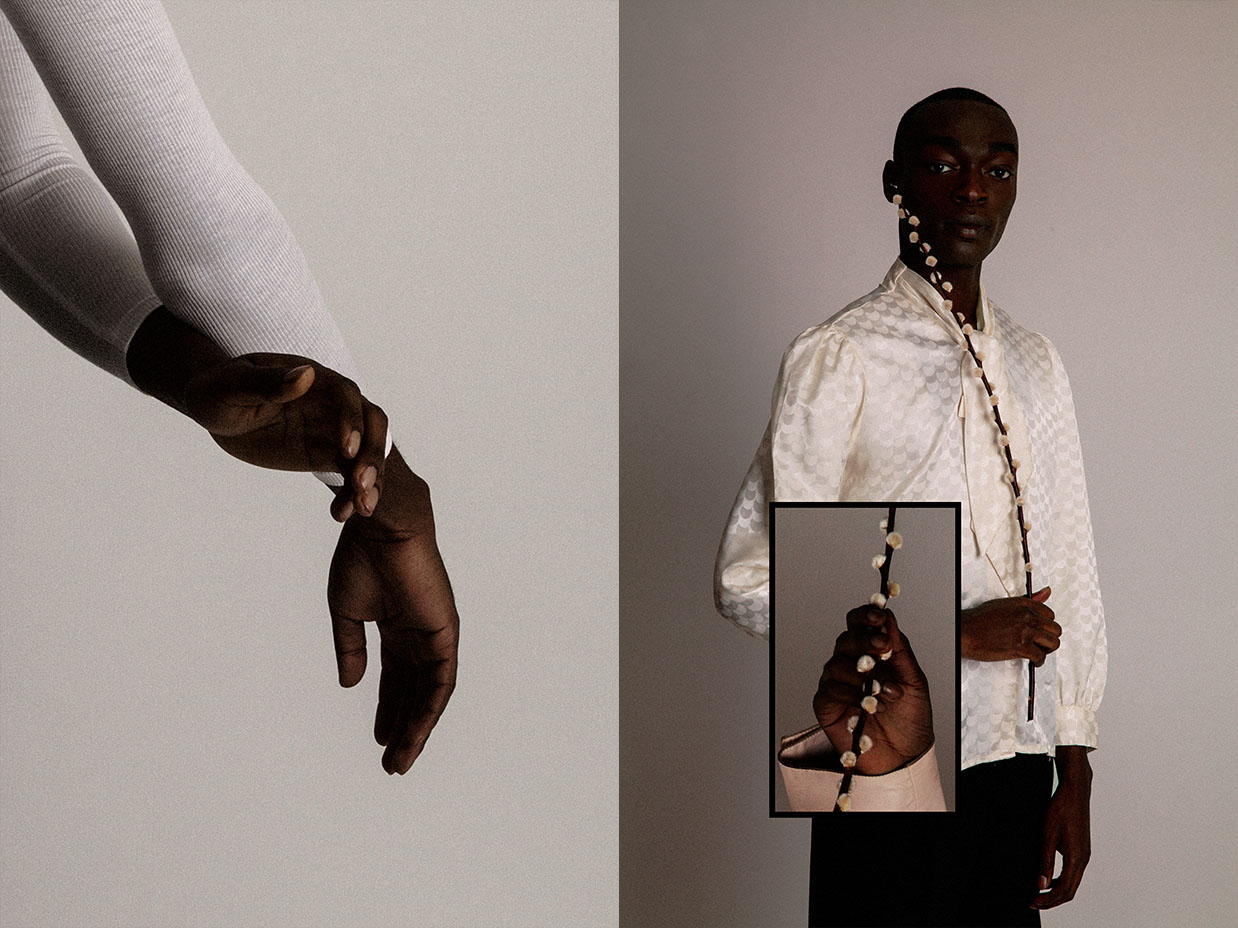 leotard   AMERICAN APPAREL   shirt   TAN HAY   from   ROKIT VINTAGE  pants   LILIANE ROMI  from  ANNIE CURTIS'