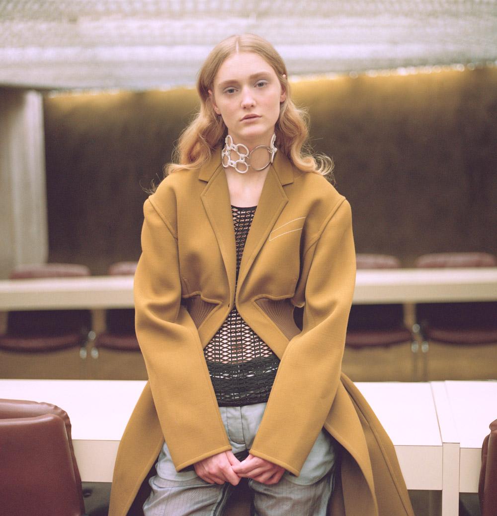 coat   CÉLINE  top   MASHA MA   pants   VERONIQUE BRANQUINHO   necklace   ANNE SOFIE MADSEN