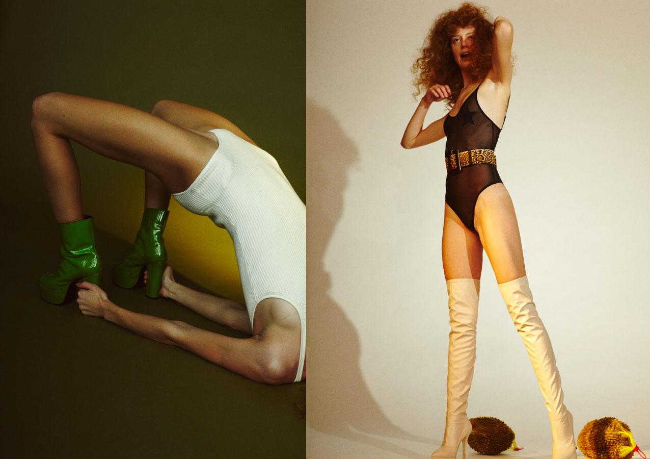body   UNIQLO   shoes   VINTAGE  . body   LOVESTORIES   belt   SAINT LAURENT   boots   ALBERTA FERRETTI