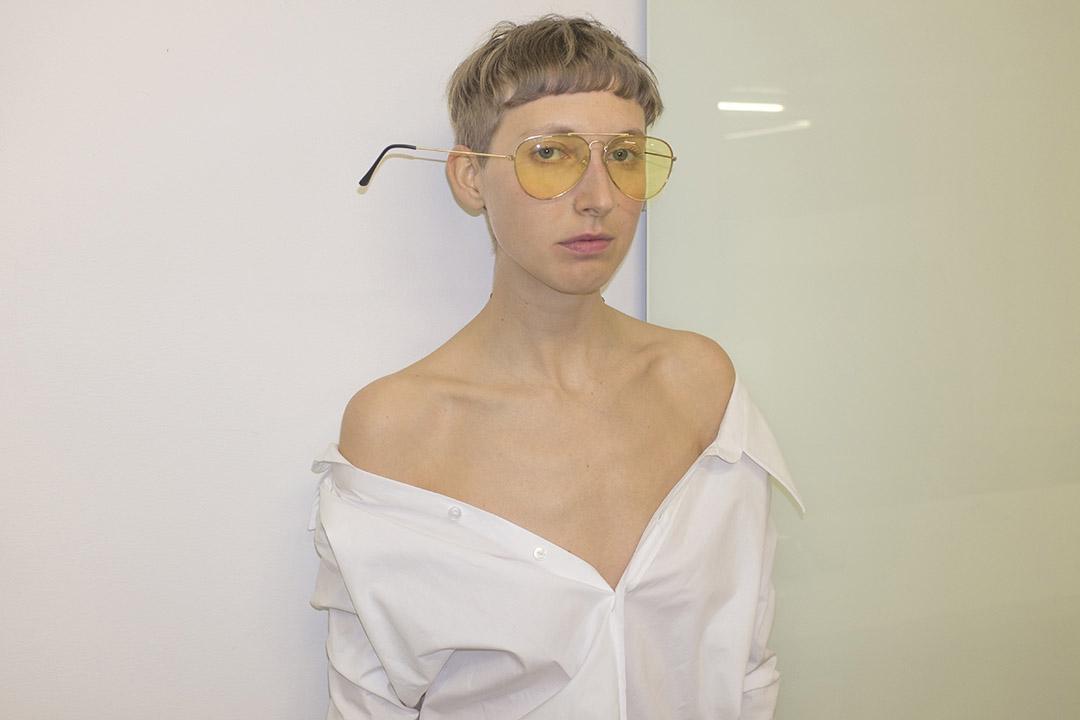 sunglasses   STYLIST'S OWN   shirt   BACK