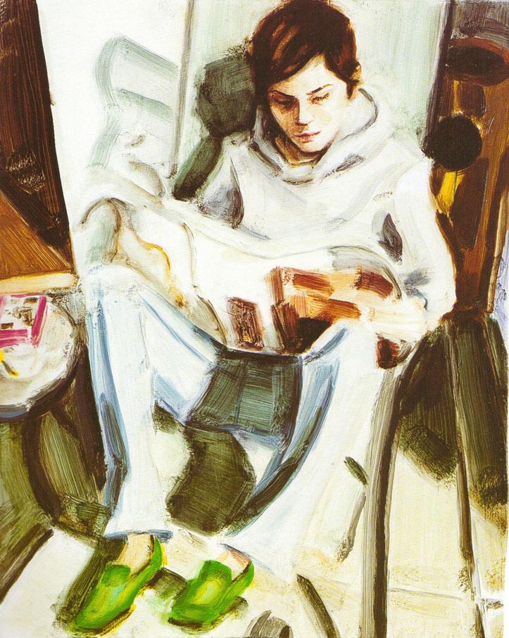 002a Elizabeth Peyton - E.P. Reading (self portrait, 2005).jpg