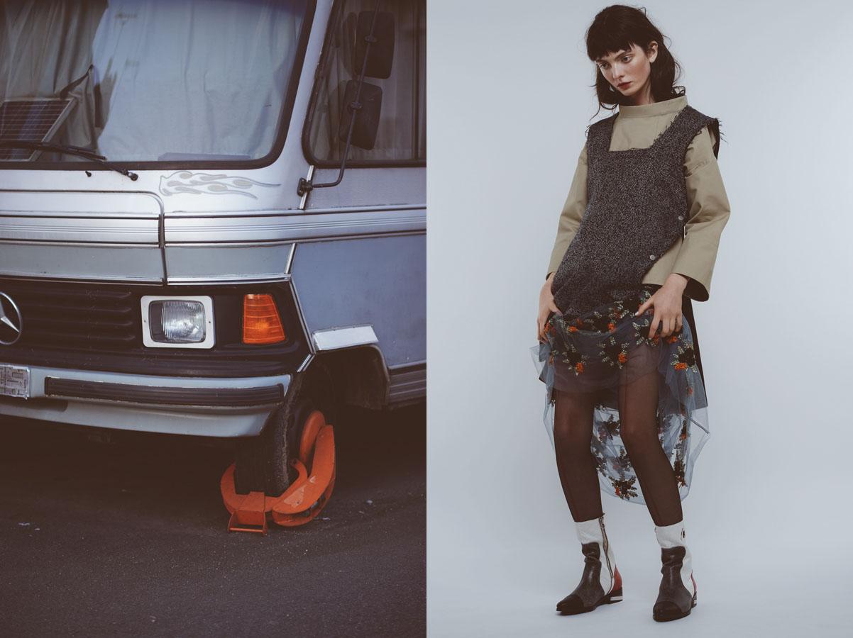 top   STUDIO NICHOLSON   sleveless top   SEAN SUEN   skirt   BYSUN   tights   FOGAL   boots   MING STUDIO