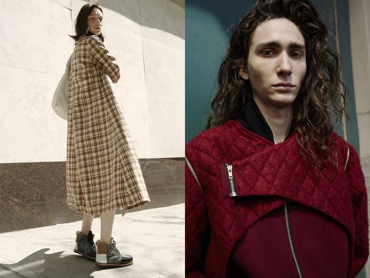 Alyssa wears coat   BREELAYNE   bag   GUCCI  shoes   BERENIK  . Briar wears jacket   WOOD HOUSE
