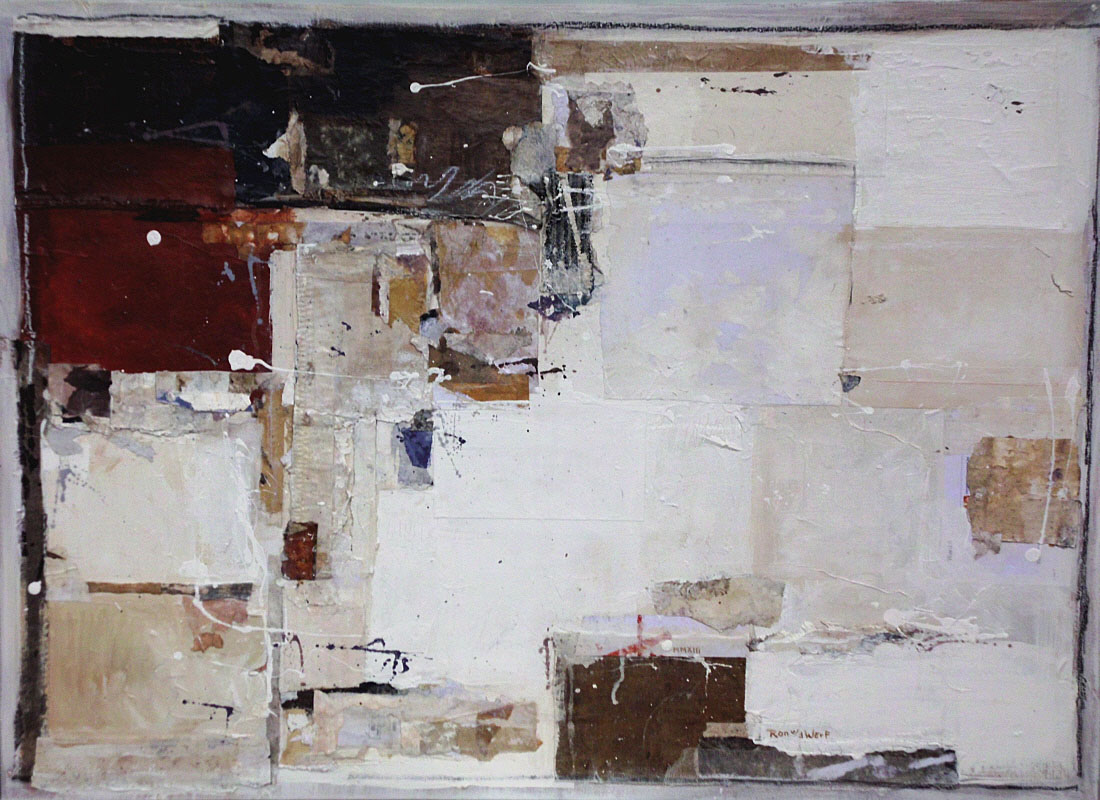Untitled 6, mixed media on canvas, 80 x 110 cm