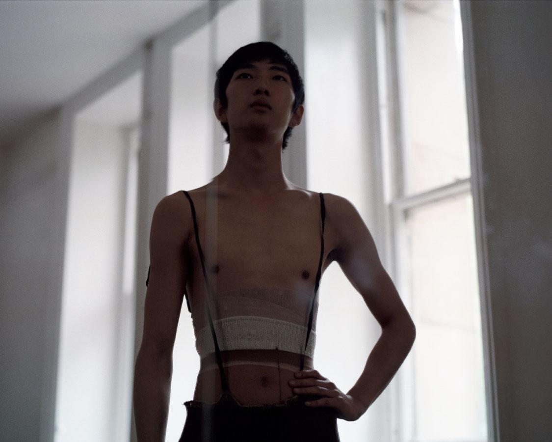Bom wears bandage belt   STYLIST'S STUDIO  leotard   NATIONAL THEATRE HIRE COSTUME