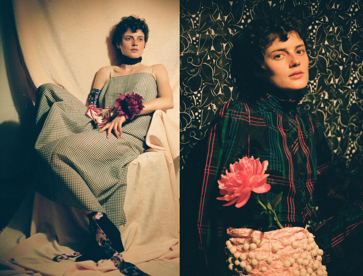 dress   JULIE LEMARÉCHAL   scarves and necklace   VINTAGE   shoes   STYLIST'S OWN  . jumpsuit   COLETTE LESCANE