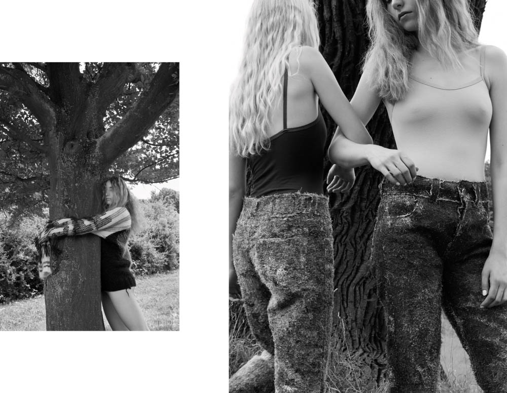 Katharina wears sweater   ANNA BORNHOLD  . Greta and Katharina wear tops  VINTAGE  pants   ANNA BORNHOLD