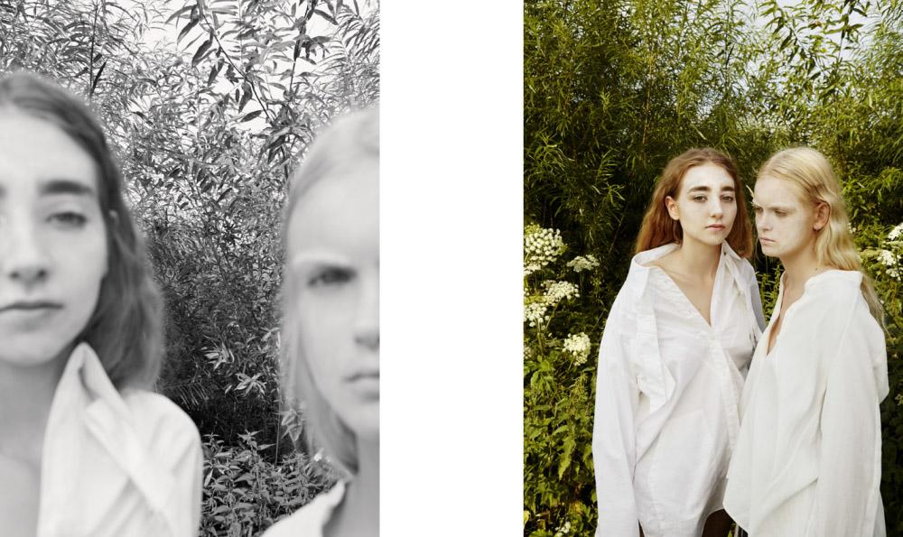Katharina wears shirt   MINJU KIM  . Greta wears blouse   NOBI TALAI
