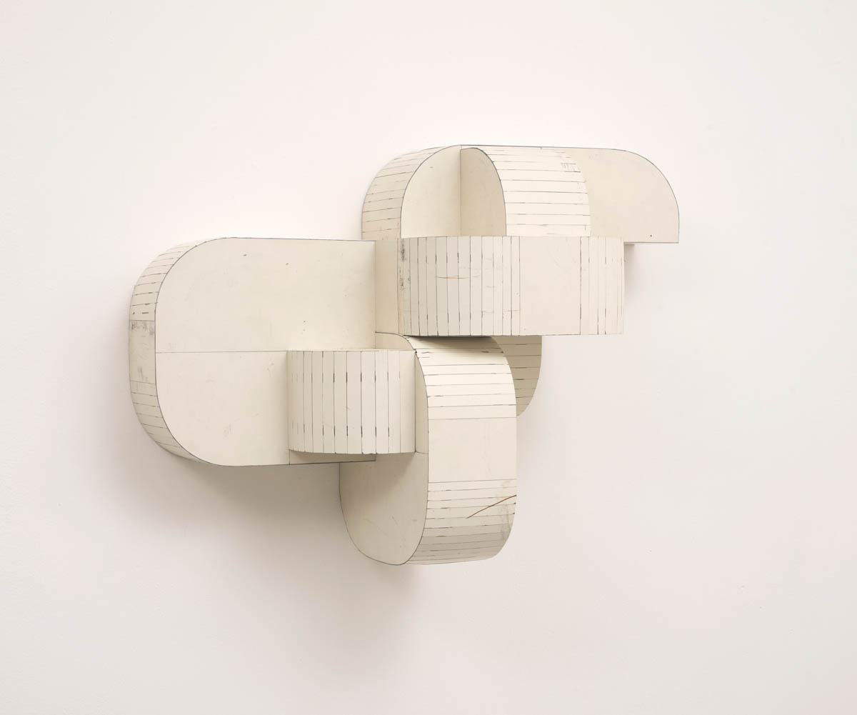 Motor Mouth, 2015, Salvage Steel, Marine-grade Plywood, Silicone, Vulcanized Rubber, Hardware, Chemicals,45.72 x 66.04 x 22.86 cm.Private Collection, New York, New York