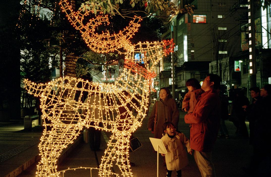 Japan, Tokyo, Christmas decorations, 1997