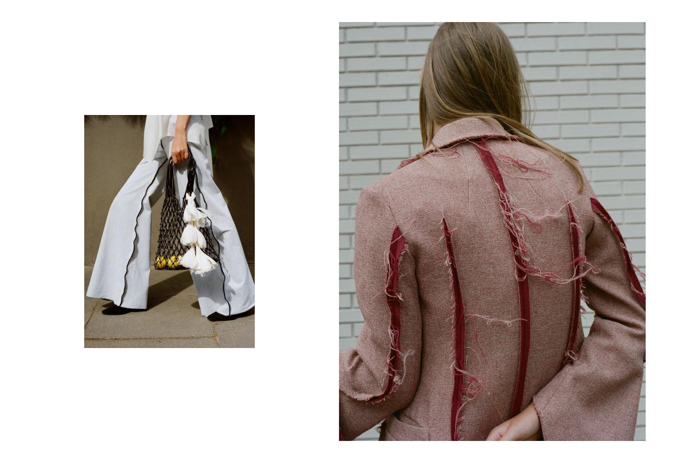 top   EMMA DAVYS   pants   PEET DULLAERT   shoes and bag   CELINE  . coat   JH ZANE