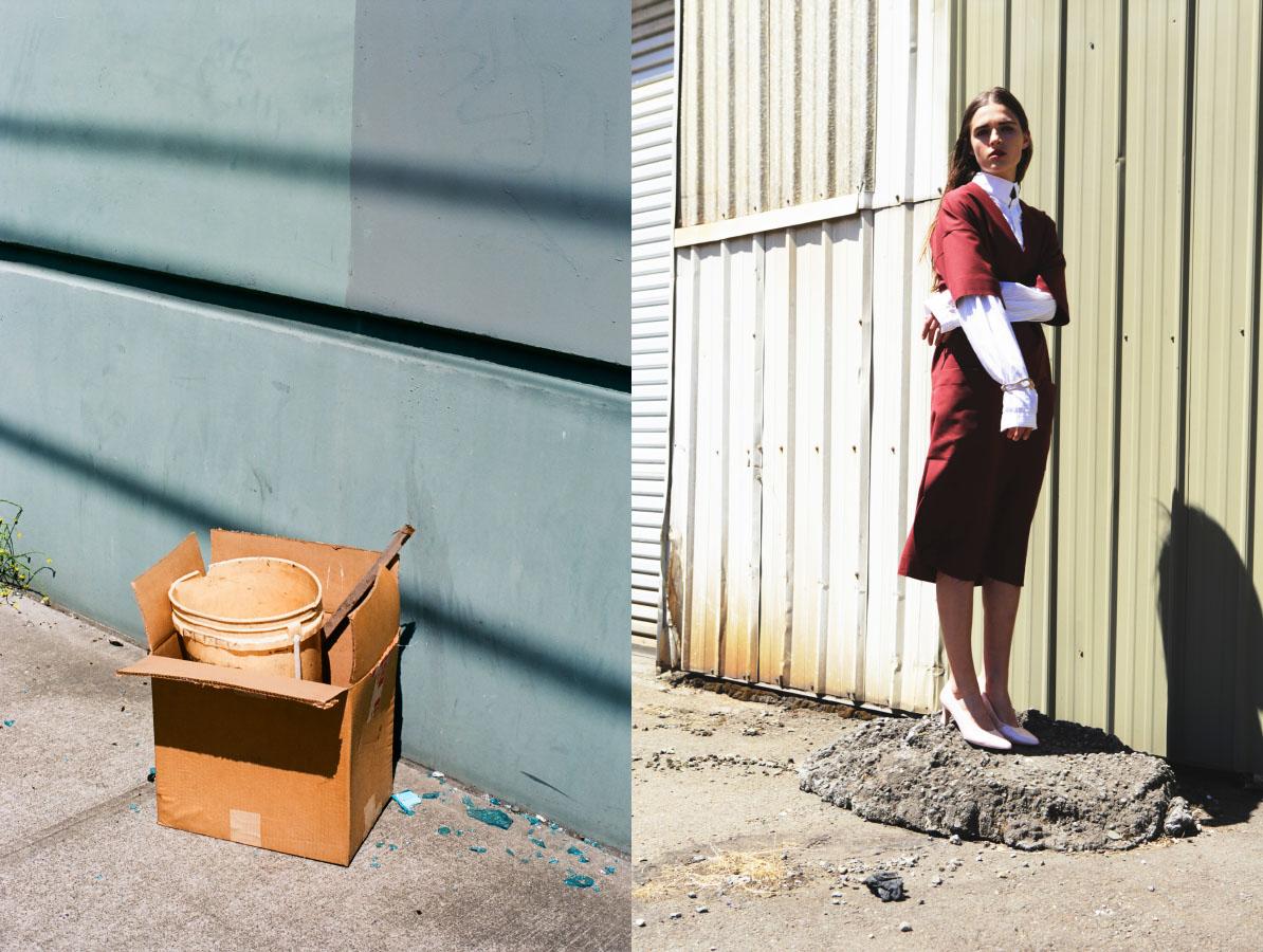 blouse   STYLIST'S OWN   dress   SCHAI   bracelet   FARIS   shoes   VINTAGE