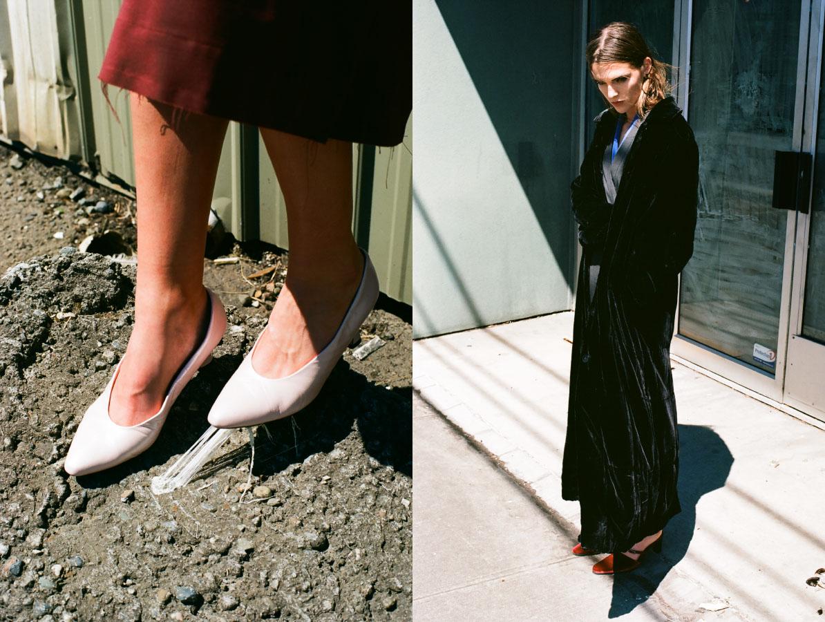 dress   SCHAI   shoes   VINTAGE  .earring   FARIS   jumpsuit   SCHAI   jacket, blouse and shoes   STYLIST'S OWN