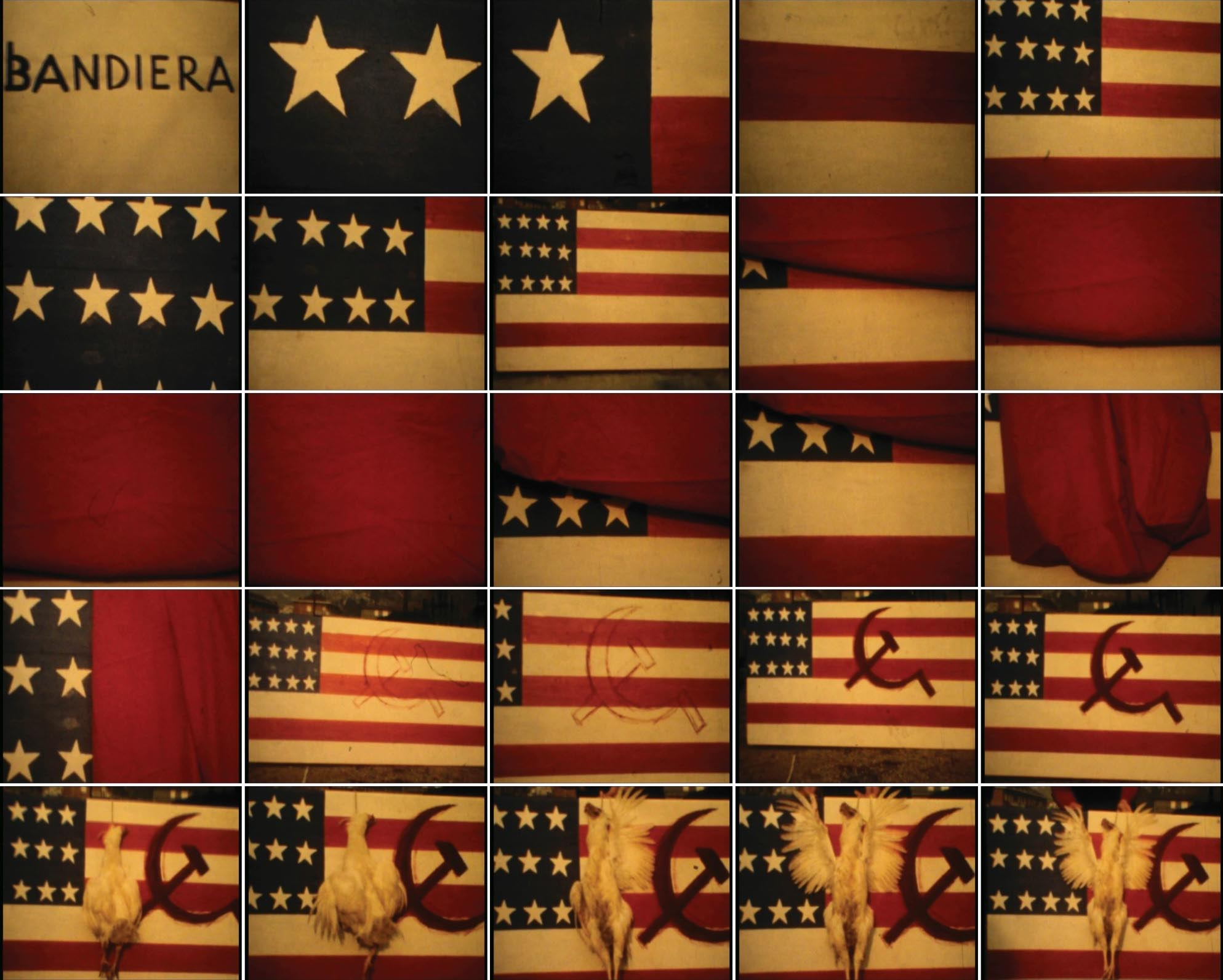 Flag, 1974, silent movie, colour movie, 8 mm