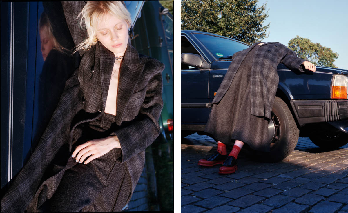 coat   WEEKDAY   pants   HERR VON EDEN   socks   COS   shoes   PRADA