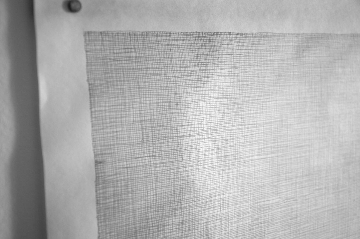 Lignes d'Erre, 2014, open series 6H pencil on 60g, papers variable dimensions, details