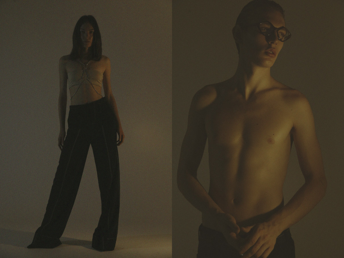 bra   MAX MARA   harness   STYLIST'S OWN   pants   AQUILANO RIMONDI  . glasses   BALENCIAGA   pants   LEVI'S