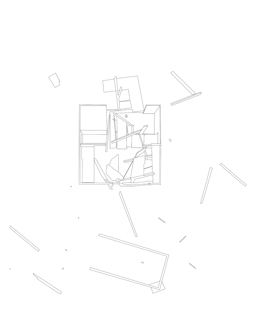 Seulement les ruines, 2016,in progress vector drawing