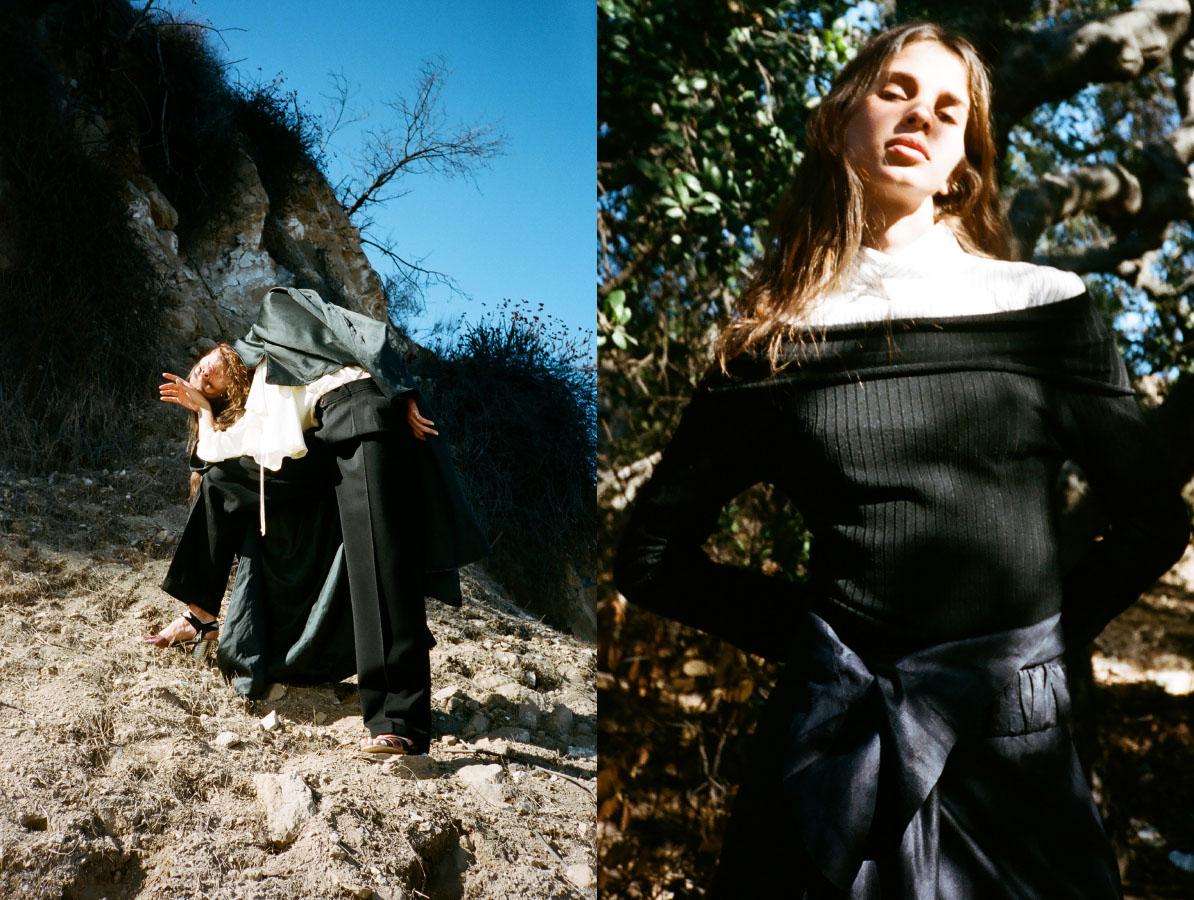 trench   NOMIA  bodysuit   DONNA KARAN   pants   YSL   shoes   CELINE   archives. shirt dress and bodysuit   PARI DESAI  skirt   DRIES VAN NOTEN