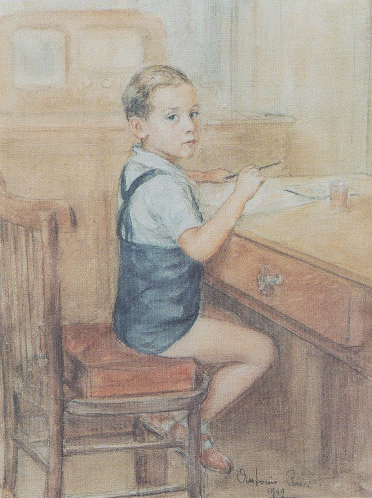 Eugenio a 5 anni, 1949