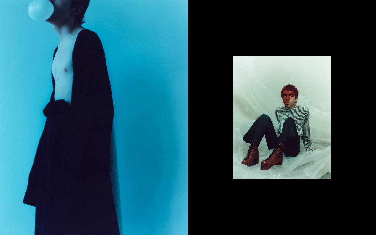 Jovel wears all   LOEWE  . Jovel wears shirt   PHILLIP LIM   pants, belt and boots   KOZABURO