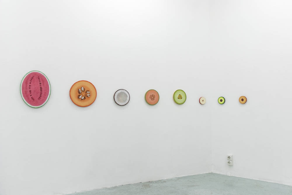 Pastel, 2016 ,Acrylic on canvas, Various dimensions. Installation view at Galerie Joseph Tang, Paris, FR