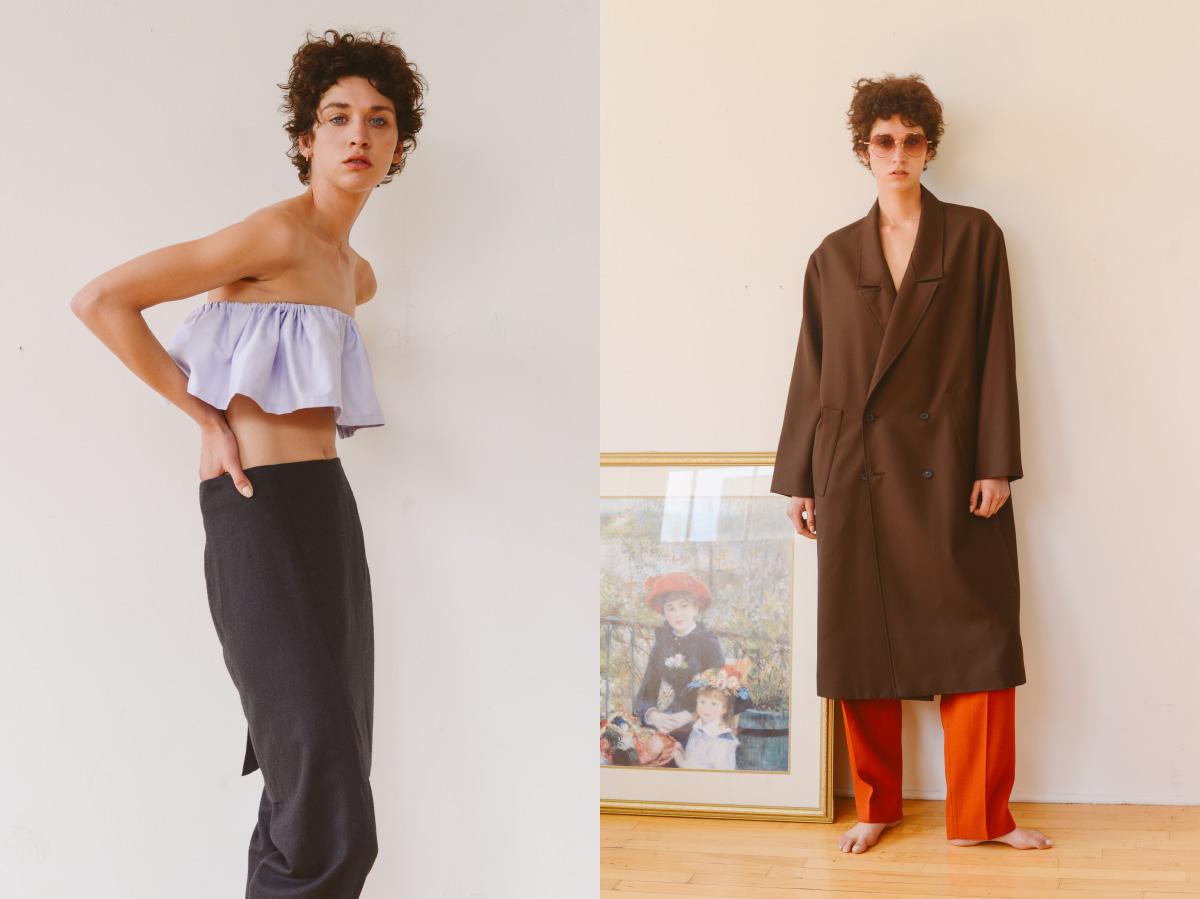 top   DESIREEKLEIN   pants   MARGIELA  . sunglasses   MATSUDA   jacket and pants   SECOND LAYER