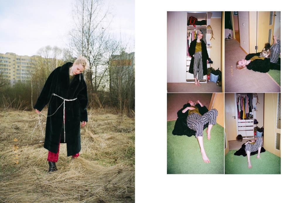 pants  STYLIST'S OWN  fur coat  VINTAGE  shoes  RALPH LAUREN . pants  VENT D'ORAGE top  MOSCHINO
