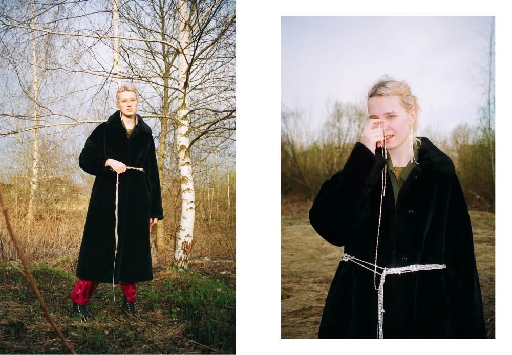 pants  STYLIST'S OWN fur coat  VINTAGE shoes  RALPH LAUREN