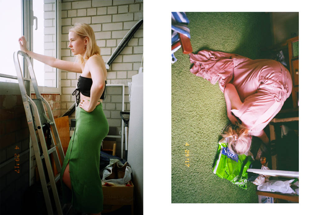 skirt  FANTASY corset  ZARA earrings  JUSTINE CLENQUET . dress  OLYA KOSTERINA