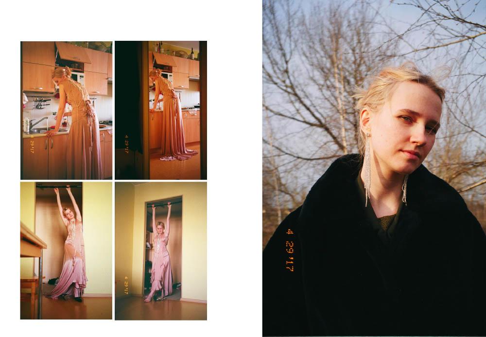 dress  OLYA KOSTERINA shoes  JILL STUART . dress  RIANI fur coat  VINTAGE