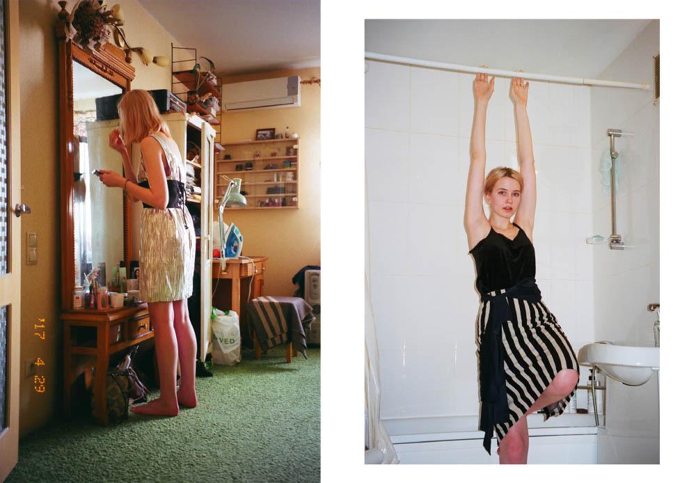silver dress  PATRIZIA PEPE  corset  ZARA skirt  STYLIST'S OWN . velvet top  REFORMATION
