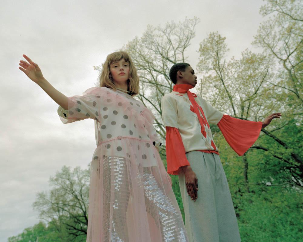 Maja wears top   ZARA  dress   MONKI  pants   ANGEL CHEN   . Jamil wears blouse   ANGEL CHEN  top   CHANCE CHANCE  pants   KING & TUCKFIELD
