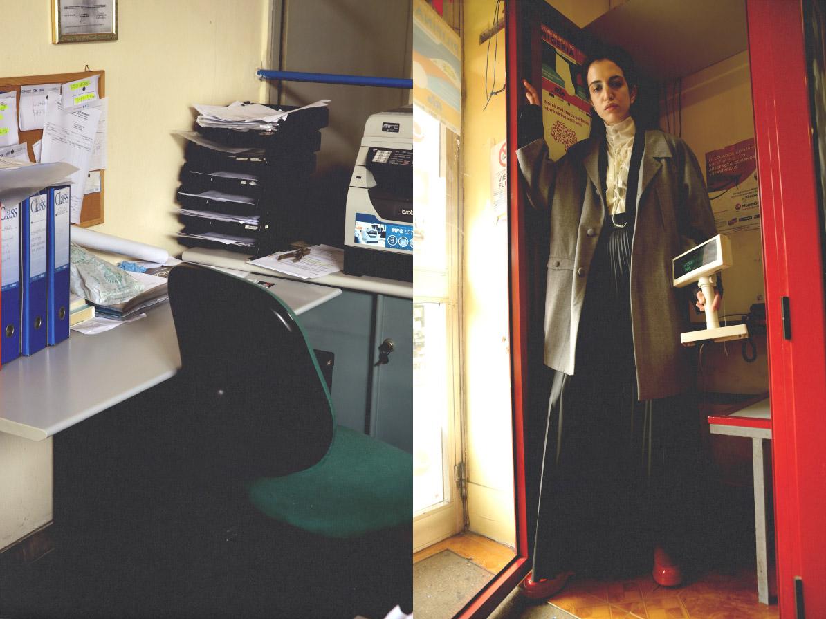 track jacket  COTTWEILER FOR REEBOK  skirt  ANTEPRIMA  blazer  GABRIELE COLANGELO  coat  VìEN  shoes  CAMPER
